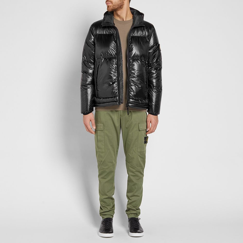 Stone Island Pertex Quantum Y Hooded Down Jacket Black | END.