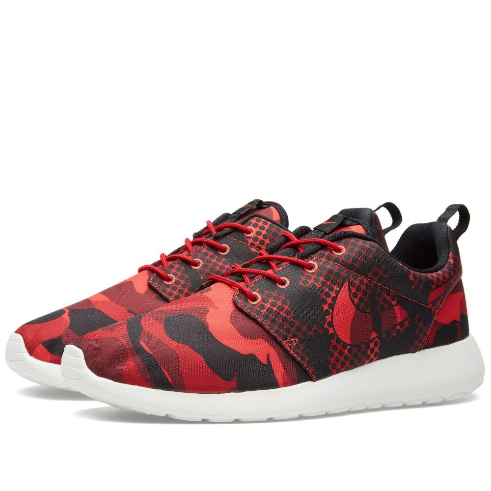 hot sale online f776c 9028f Nike Roshe One Print Daring Red  Black  END.