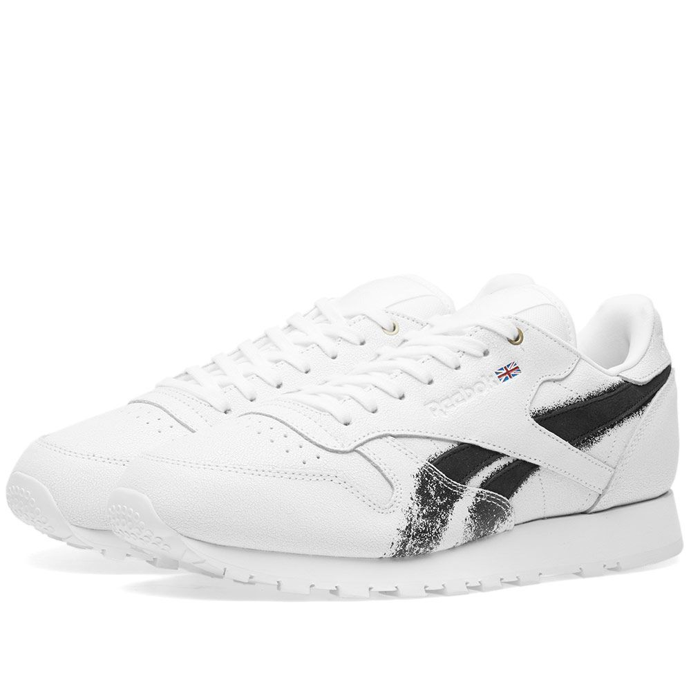 Reebok x Montana Cans Classic Leather White   Black  d74fd615f8
