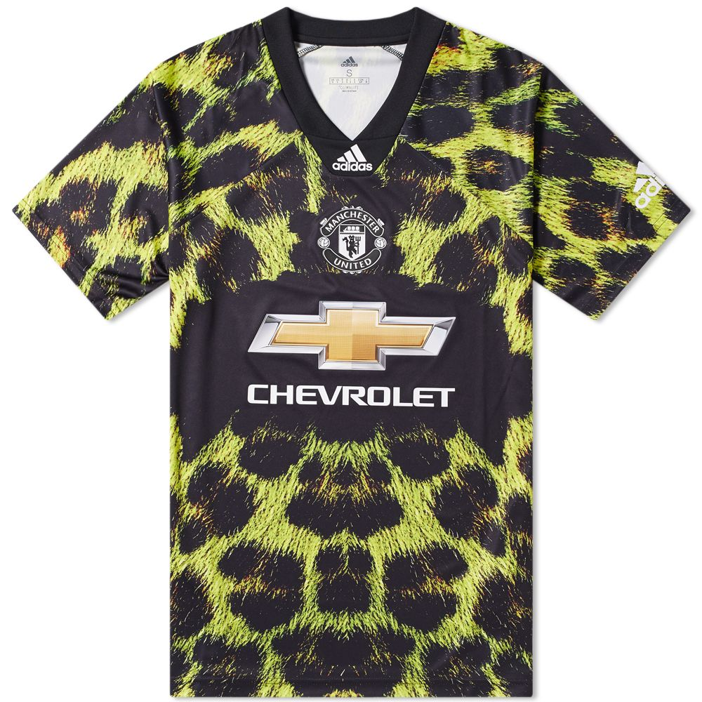 99f9629f5 Adidas Consortium Manchester United Football Jersey Black   Bright ...