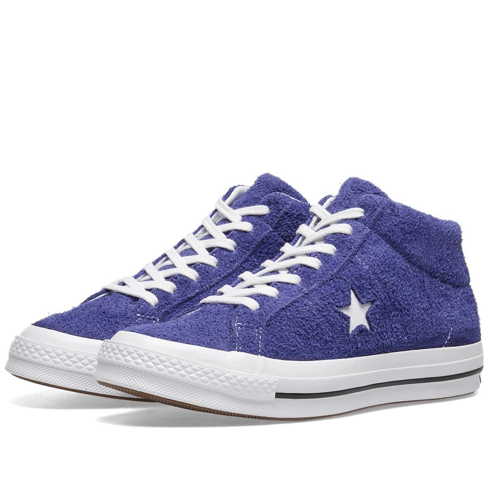 102211cce9e Converse One Star Mid Vintage Suede New Orchid   White
