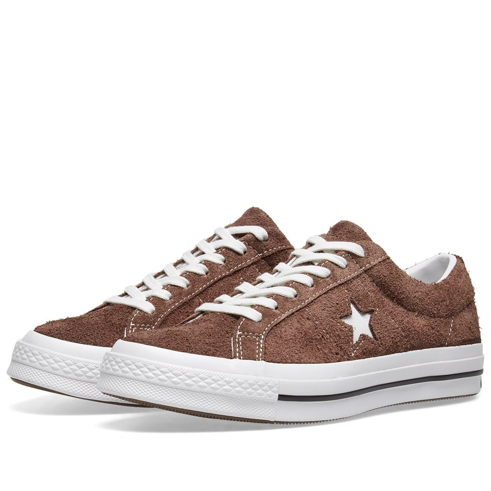 39313bc9ee63 Converse One Star Ox Vintage Suede Chocolate   White