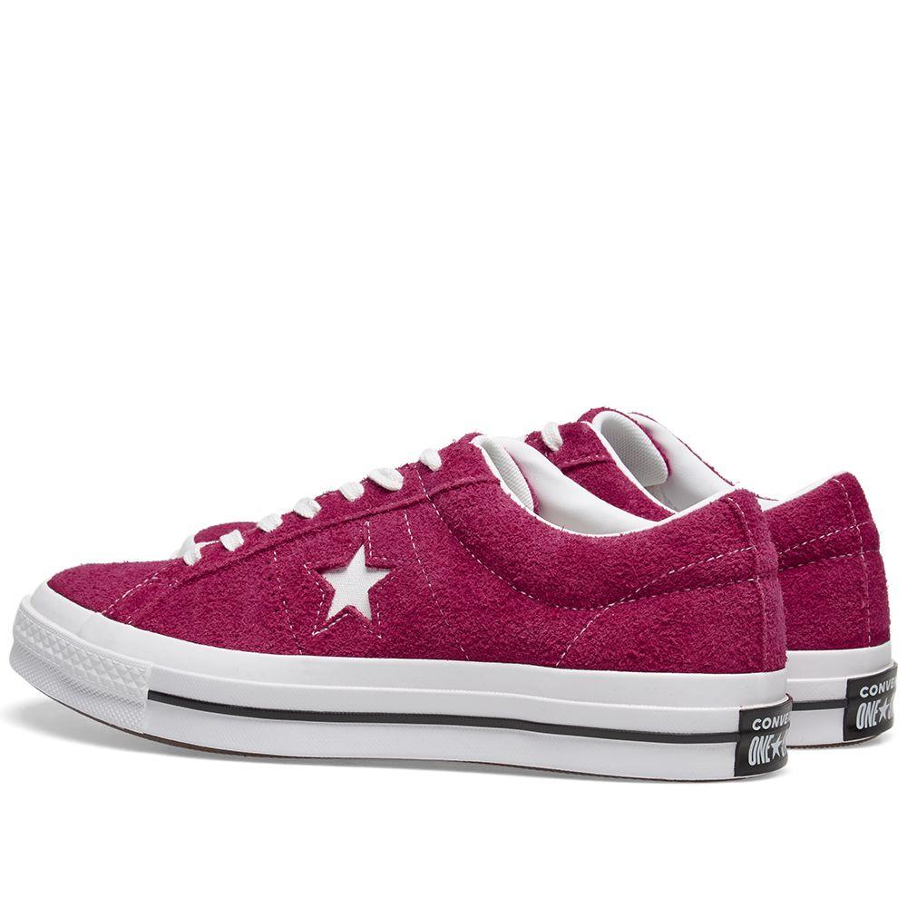 8fc7a236e79da0 Converse One Star Ox Vintage Suede Pink Pop   White