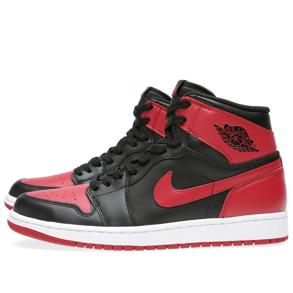 Nike Air Jordan 1 Retro High OG  Bred  Black   Varsity Red  429f6d543