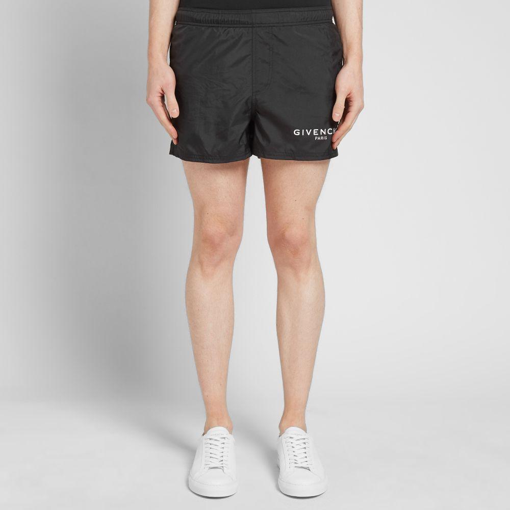 9ce15dd7f8b746 Givenchy Logo Swim Short Black