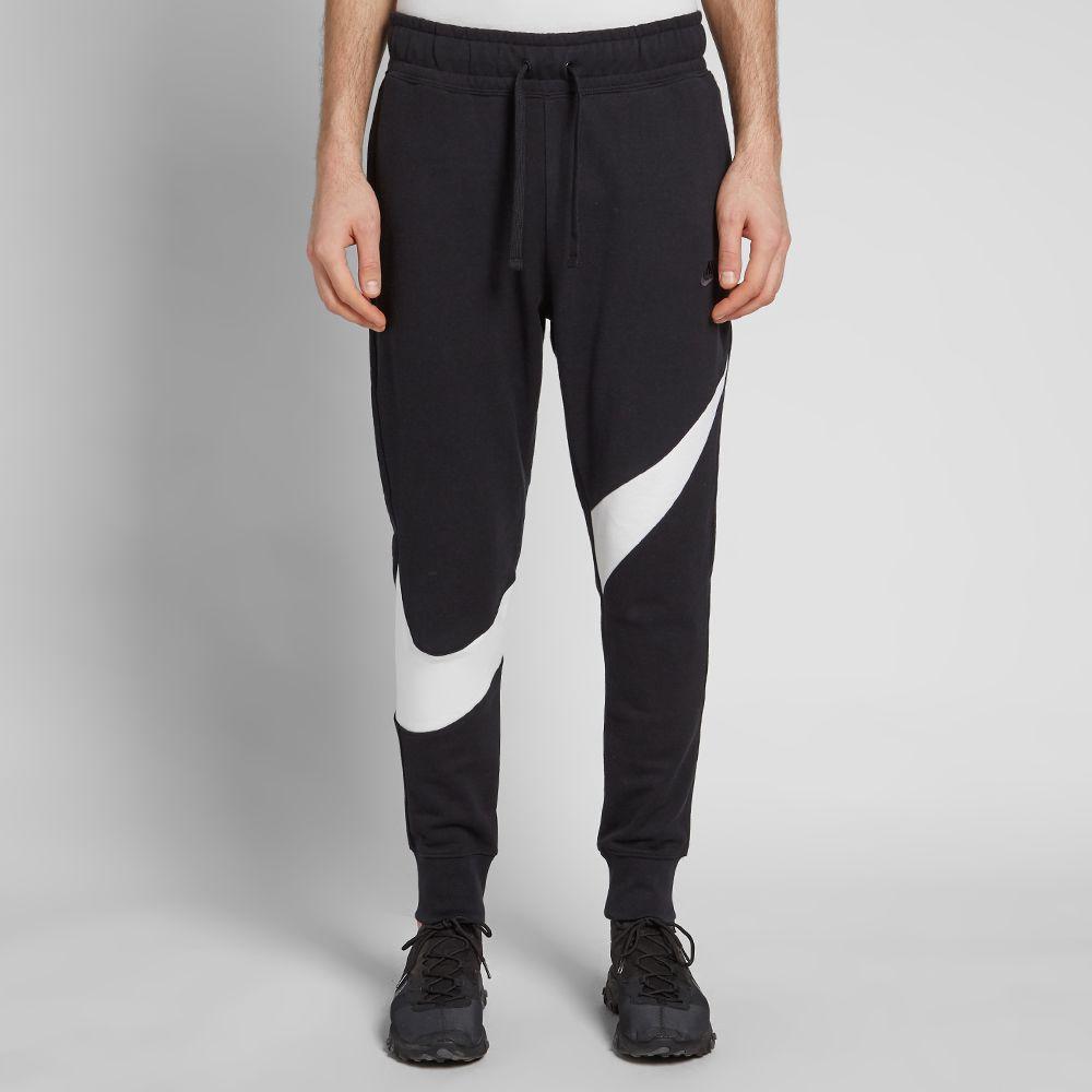 7659bd85d8a4 Nike Big Swoosh Jogger Black   White