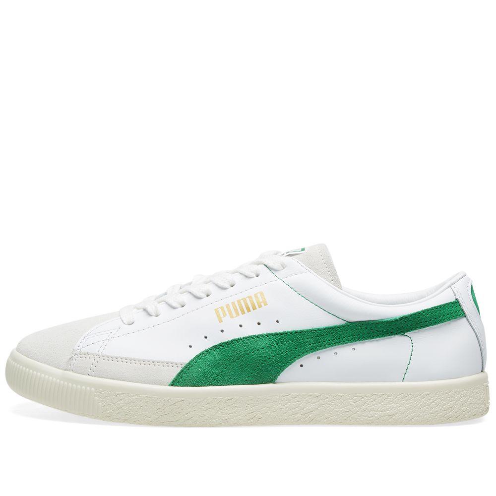 bce6dc3919f Puma Basket 90680 OG White   Amazon Green