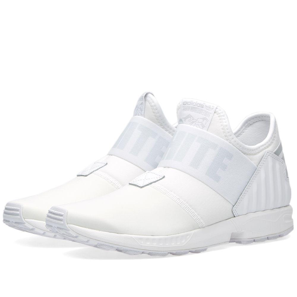 3f6e28870 Adidas x White Mountaineering ZX Flux Plus White