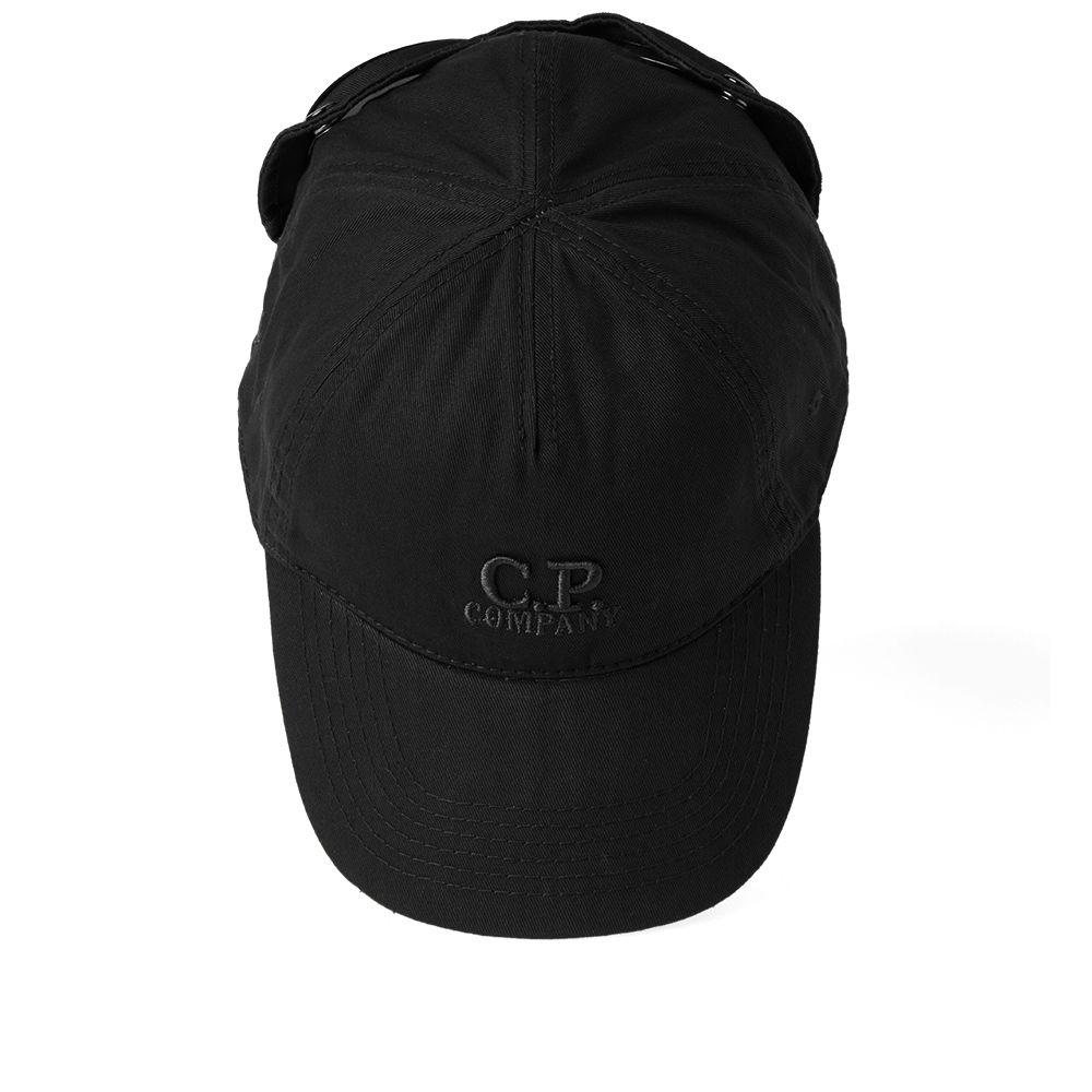 27f36418 C.P. Company Goggle Logo Cap Black | END.