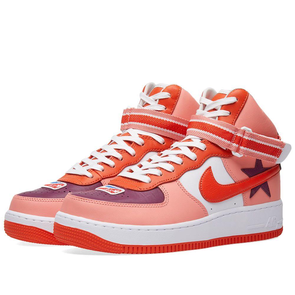 cheap for discount 83250 8f79c Nike x Riccardo Tisci Air Force 1 High Sunblush, Bordeaux  O