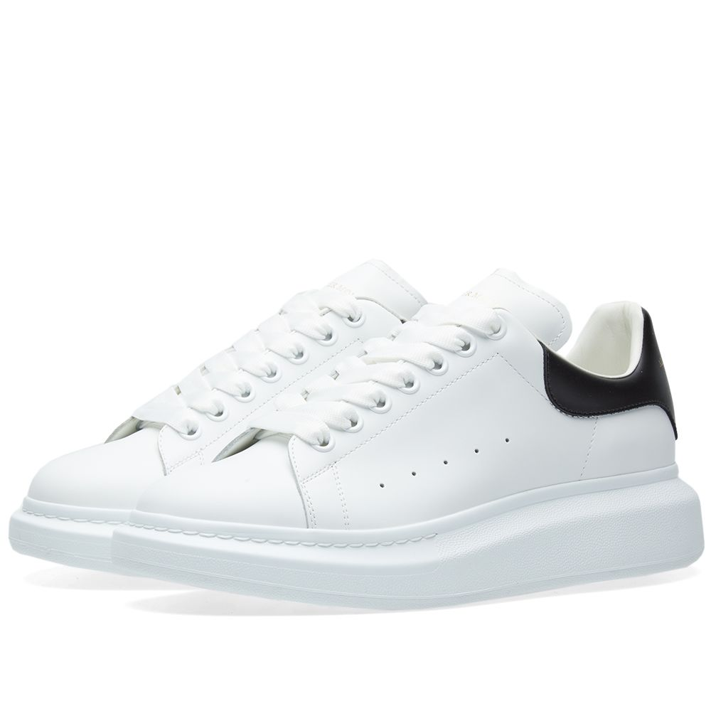 1710bfcbcb7 Alexander McQueen Wedge Sole Low Sneaker White   Black