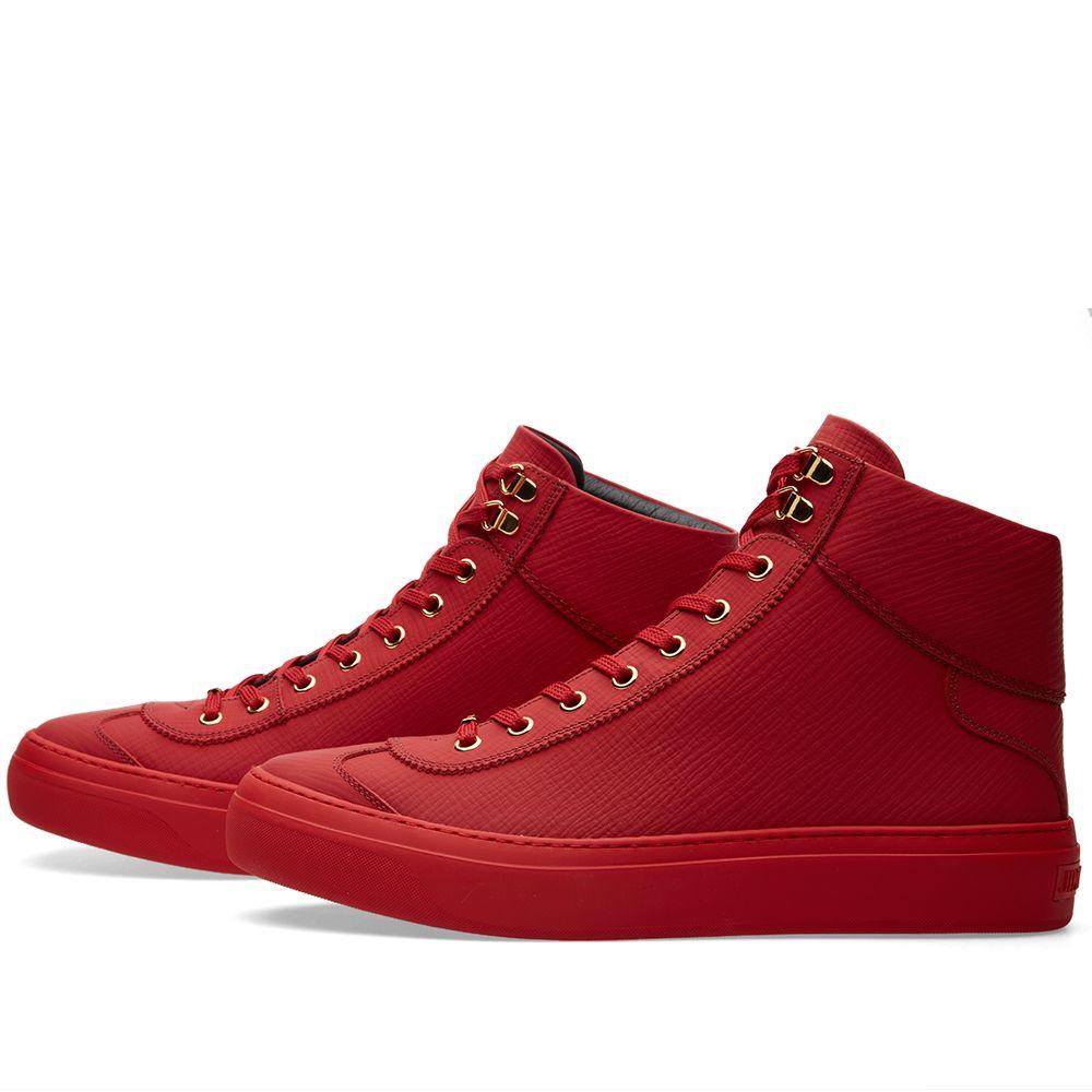 eed83a1bff1b Jimmy Choo Argyle Sneaker Russian Red Grain