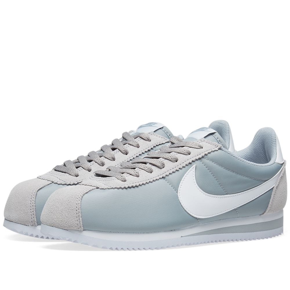 meet 3c02e 3d847 Nike Classic Cortez Nylon OG Wolf Grey  White  END.