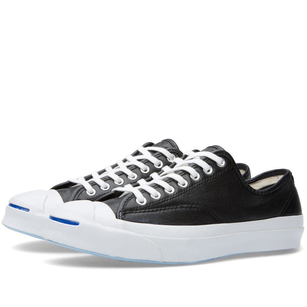 9730ff0953ad Converse Jack Purcell Signature Leather Black   White