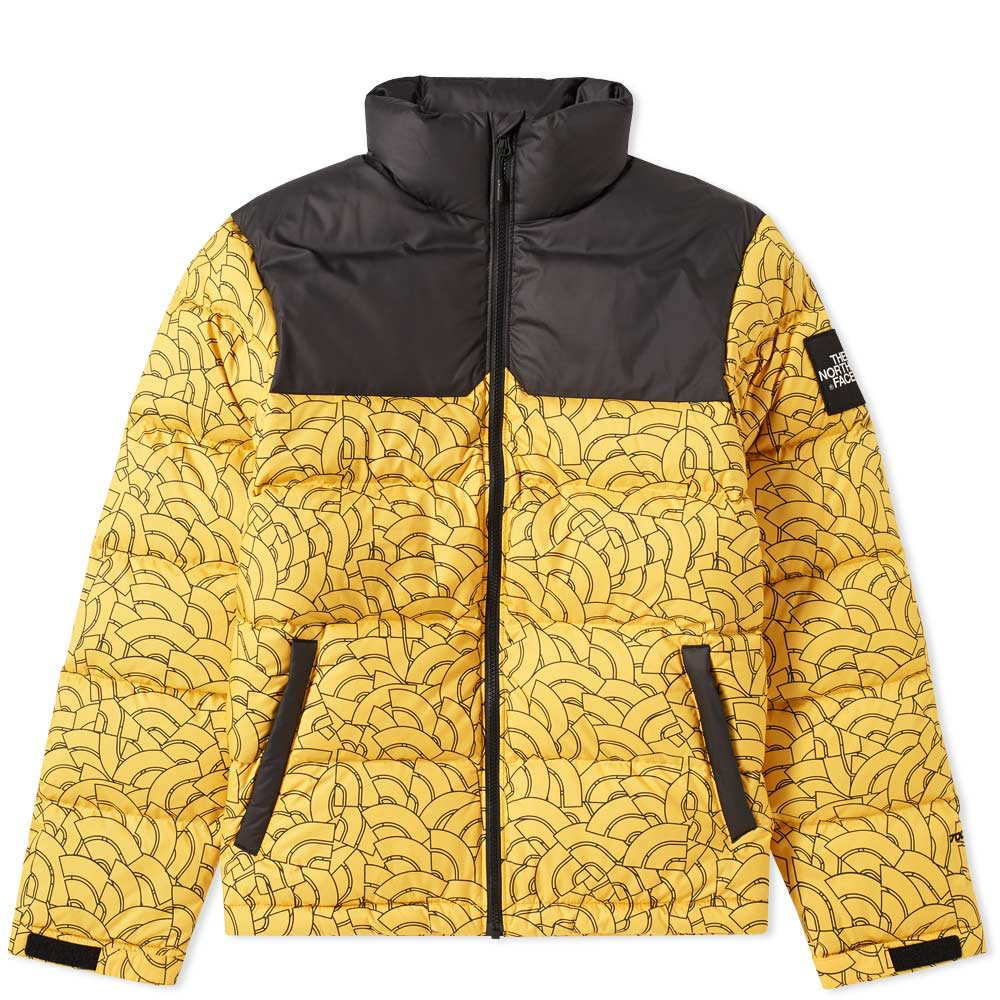 The North Face 1992 Nuptse Jacket Yellow Dome Print  75cb2e851