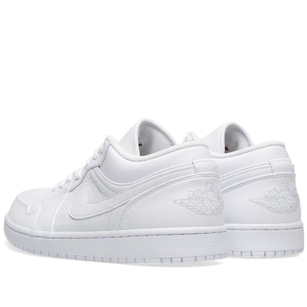 aa4f07c8f858ce Air Jordan 1 Low White   Pure Platinum