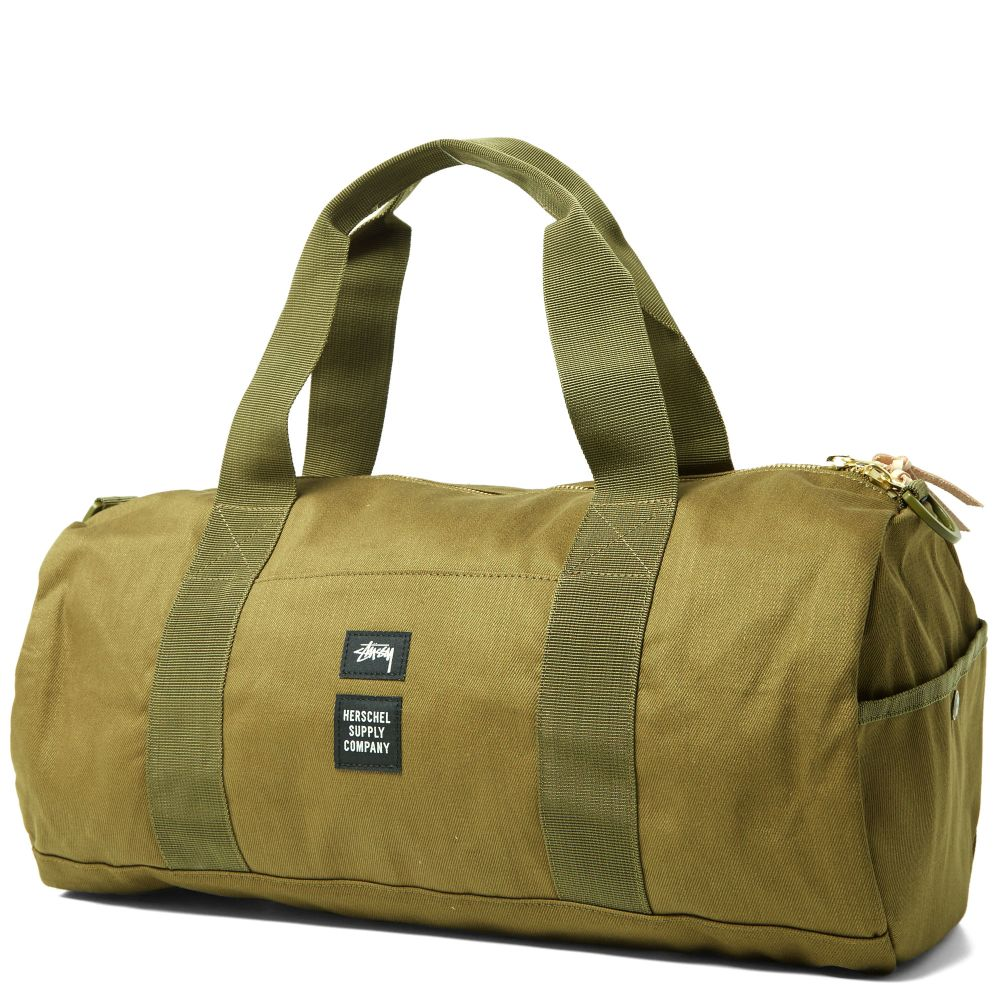 7b47feab9a22 Stussy x Herschel Supply Co. Duffle Bag. Olive Drab. S 215 S 139. image
