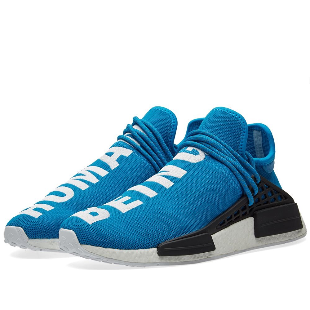 e234369f96a6 Adidas x Pharrell Williams Hu Human Race NMD Sharp Blue   White