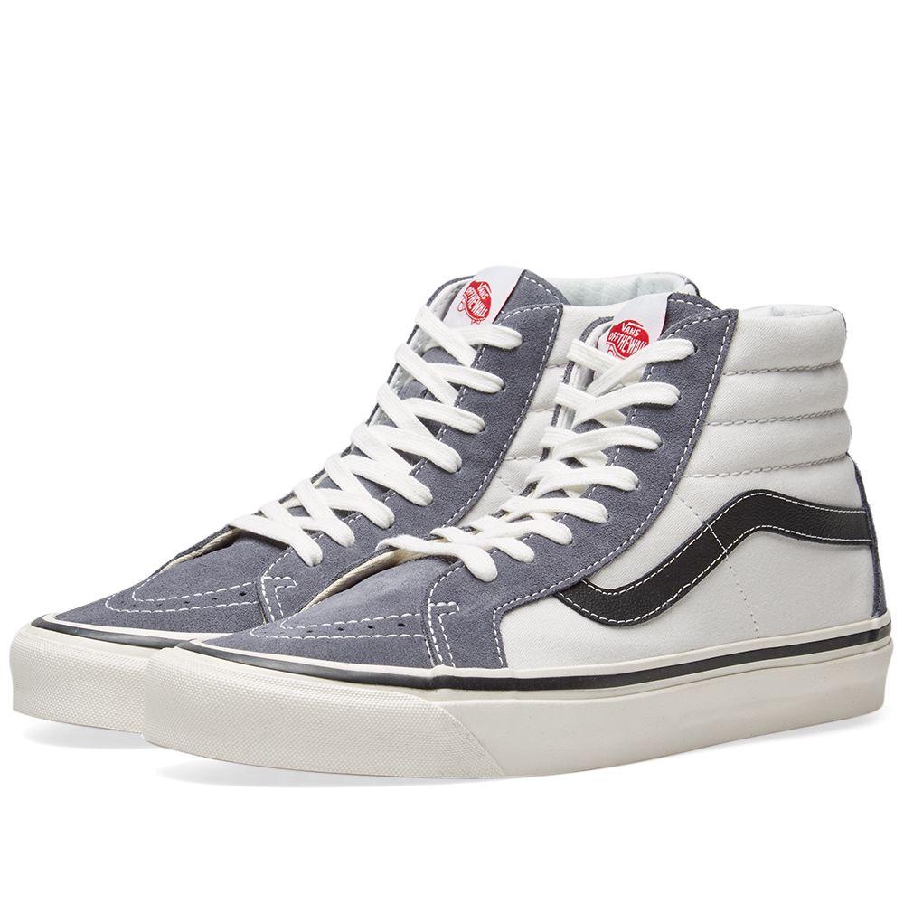 f9b150823e76 Vans Sk8-Hi 38 DX OG Dark Grey   OG White