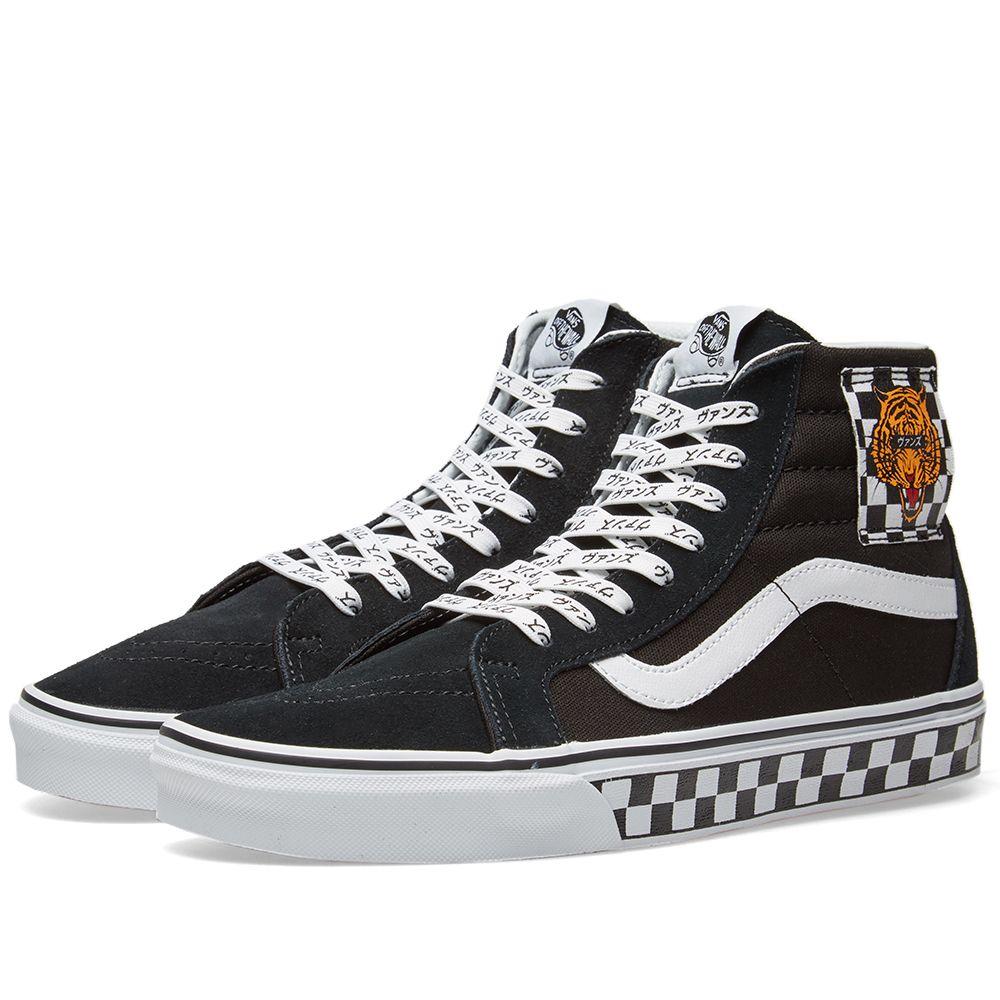 d2f1ee2cab Vans UA Sk8-Hi Reissue Tiger Check Black   White