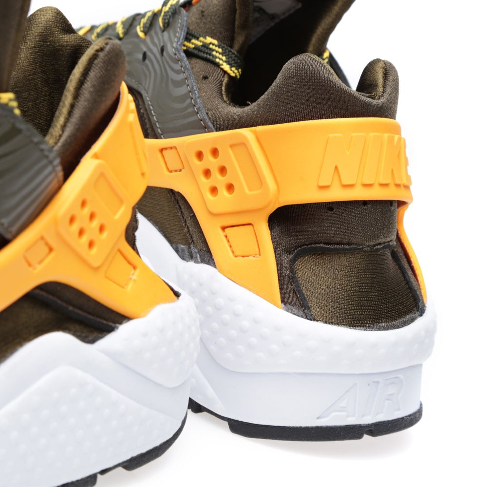 Nike Air Huarache  Zebra  Dark Loden   Laser Orange  15e2b8ac0