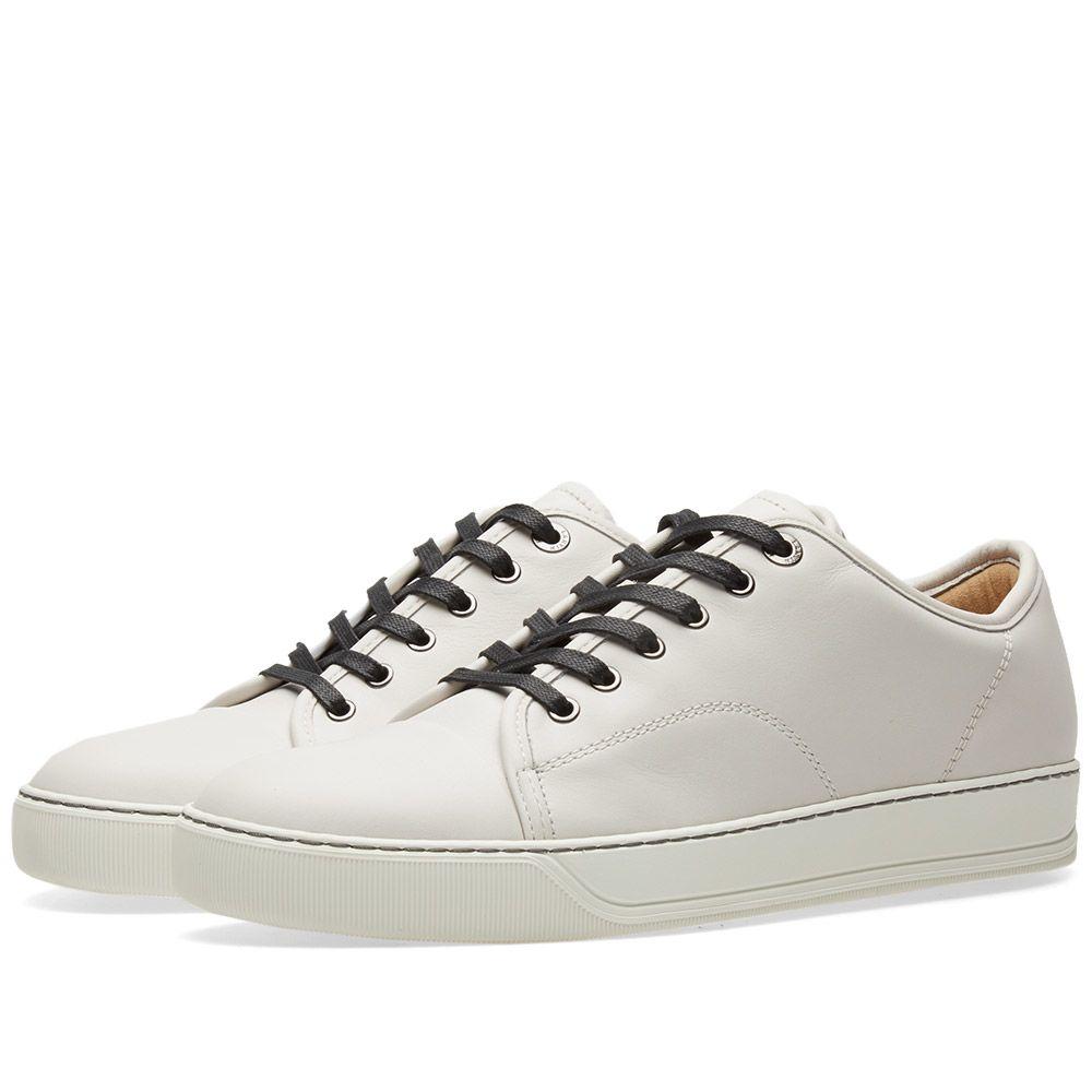 c7725c1685f Lanvin Toe Cap Matte Leather Low Sneaker. Chalk.  505  255. Plus Free  Shipping. image
