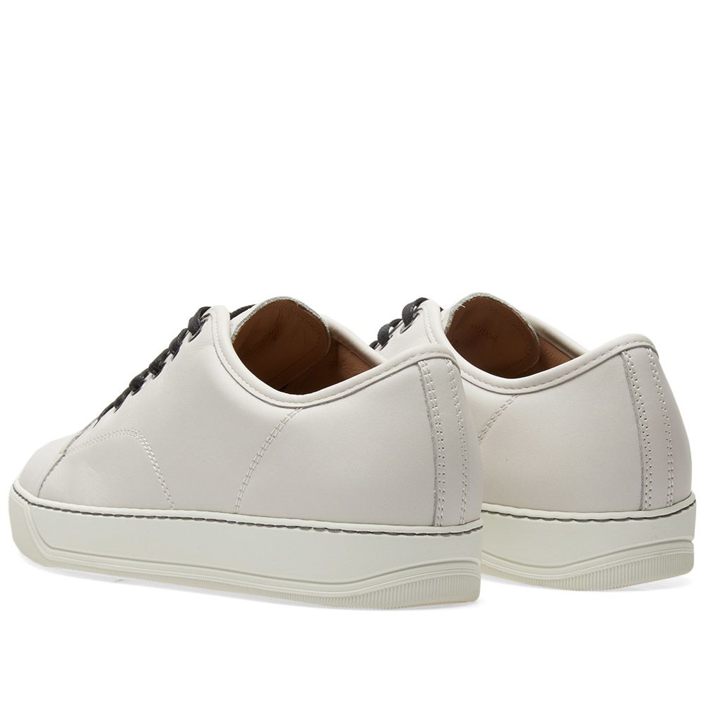 0708095215f Lanvin Toe Cap Matte Leather Low Sneaker. Chalk.  505  255. Plus Free  Shipping. image. image. image