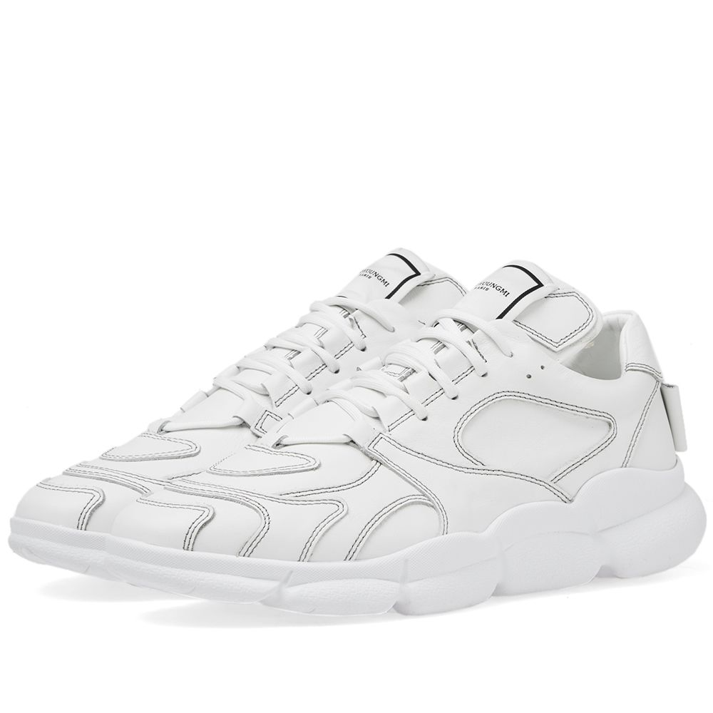 a2fec46188c3a Wooyoungmi Panelled Running Sneaker White