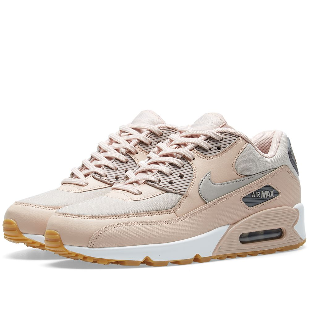 buy popular 29707 1cd19 Nike Air Max 90 W Beige, Moon  Gunsmoke  END.