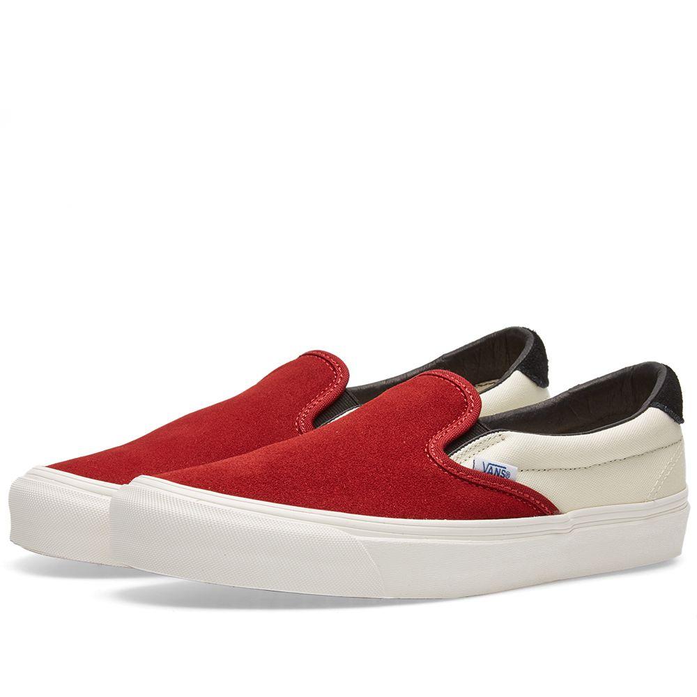 Vans Vault OG Slip On  59 LX Red Dahlia   Black  0ef6efee3