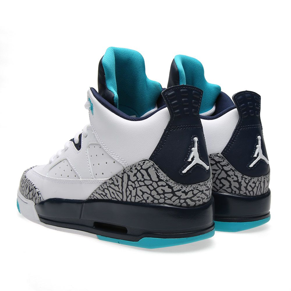 online retailer 17aa8 05f59 Nike Air Jordan Son of Mars Low BG  Hornets  White   Midnight Navy ...