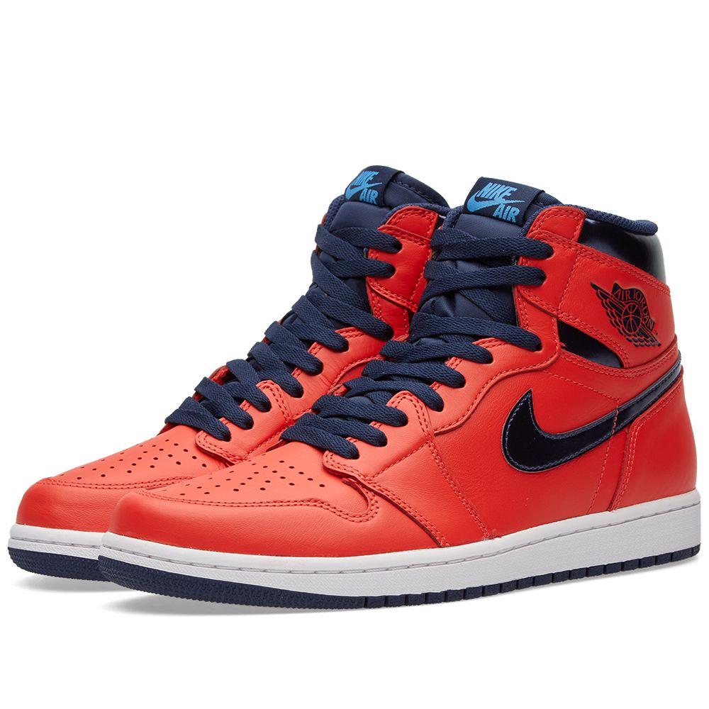 a7795681a0d2f Nike Air Jordan 1 Retro High OG Light Crimson   Mid Navy