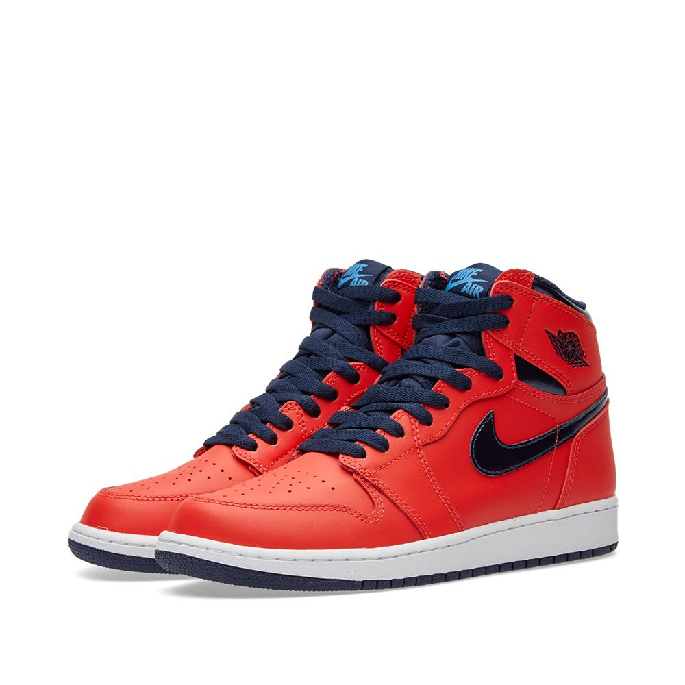 9c2d213f3900b Nike Air Jordan 1 Retro High OG BG Light Crimson   Mid Navy