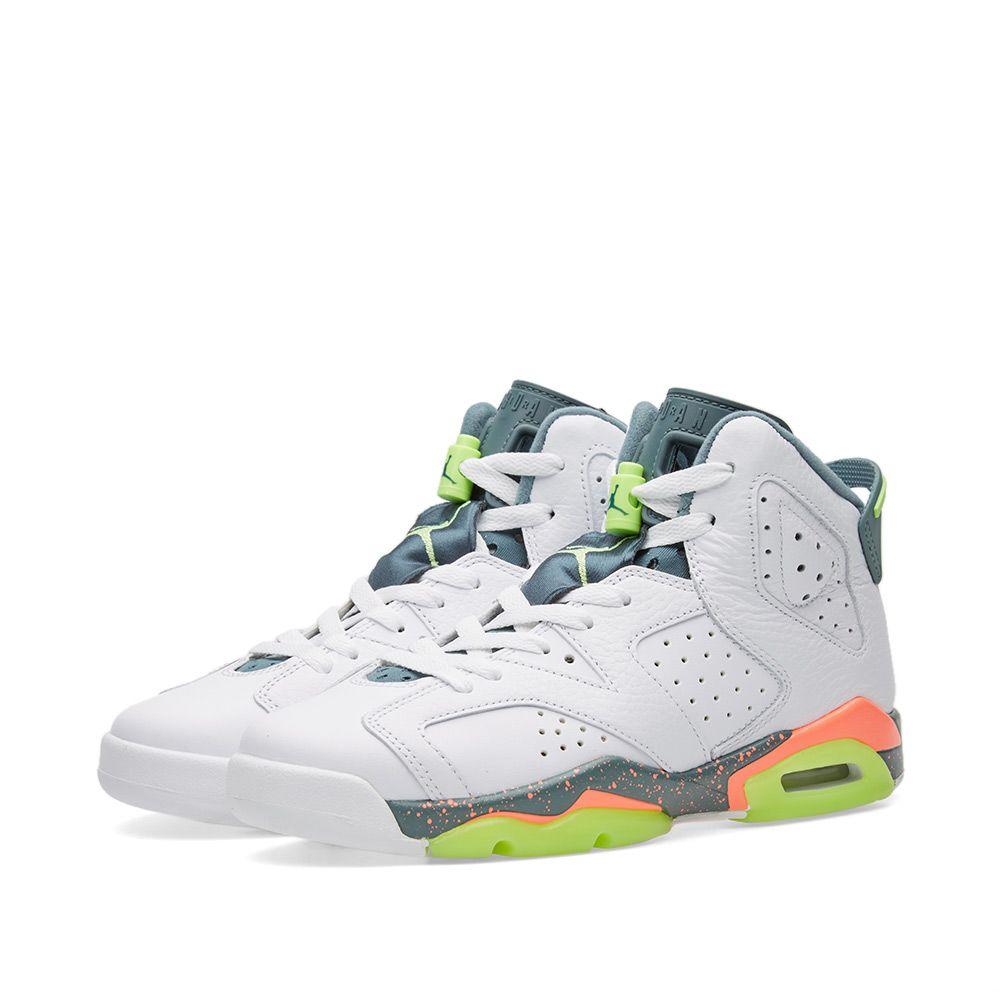 d966afa6ee3a Nike Air Jordan 6 Retro BG. White   Ghost Green.  109  75. image