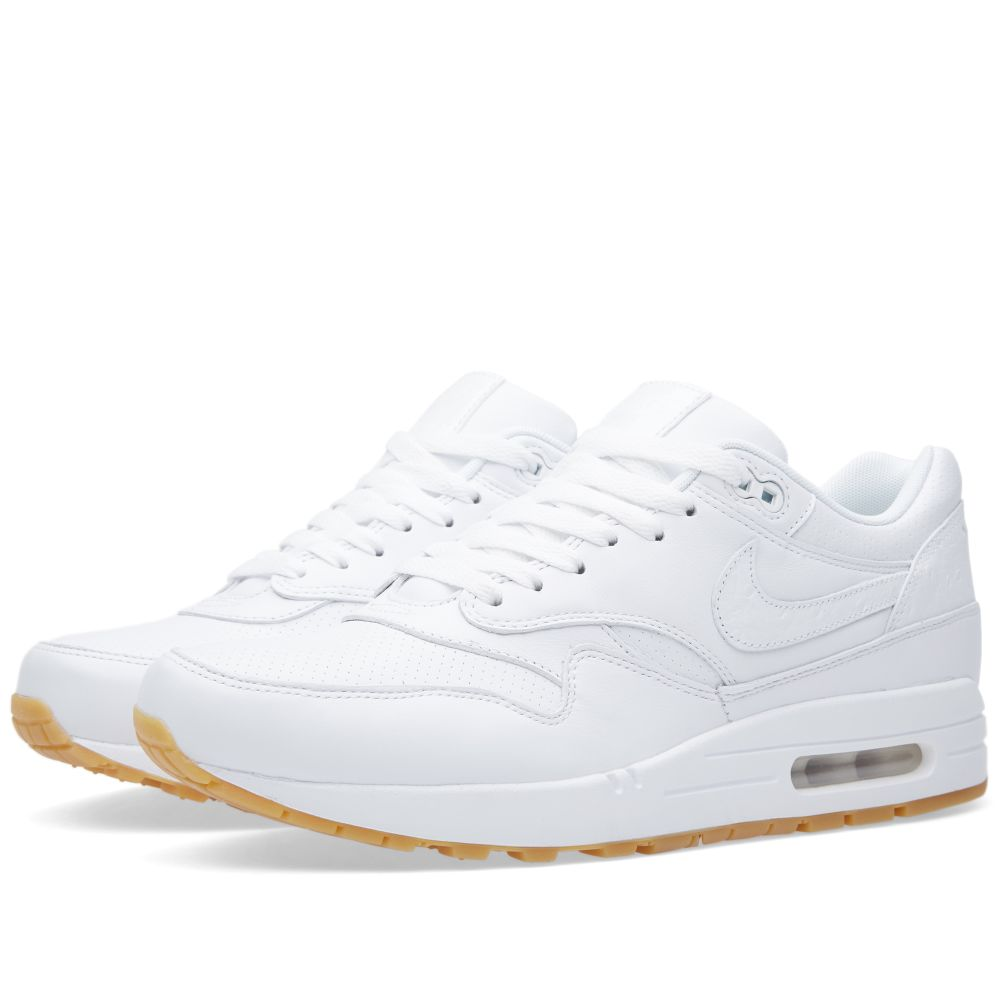 5976b5d2fdfb Nike Air Max 1 Leather PA White   Gum