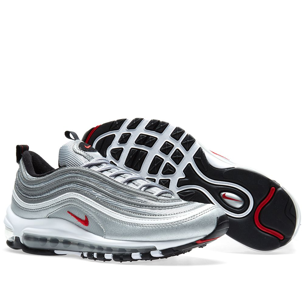 finest selection 462df f9b28 Nike Air Max 97 OG QS Metallic Silver  Varsity Red  END.