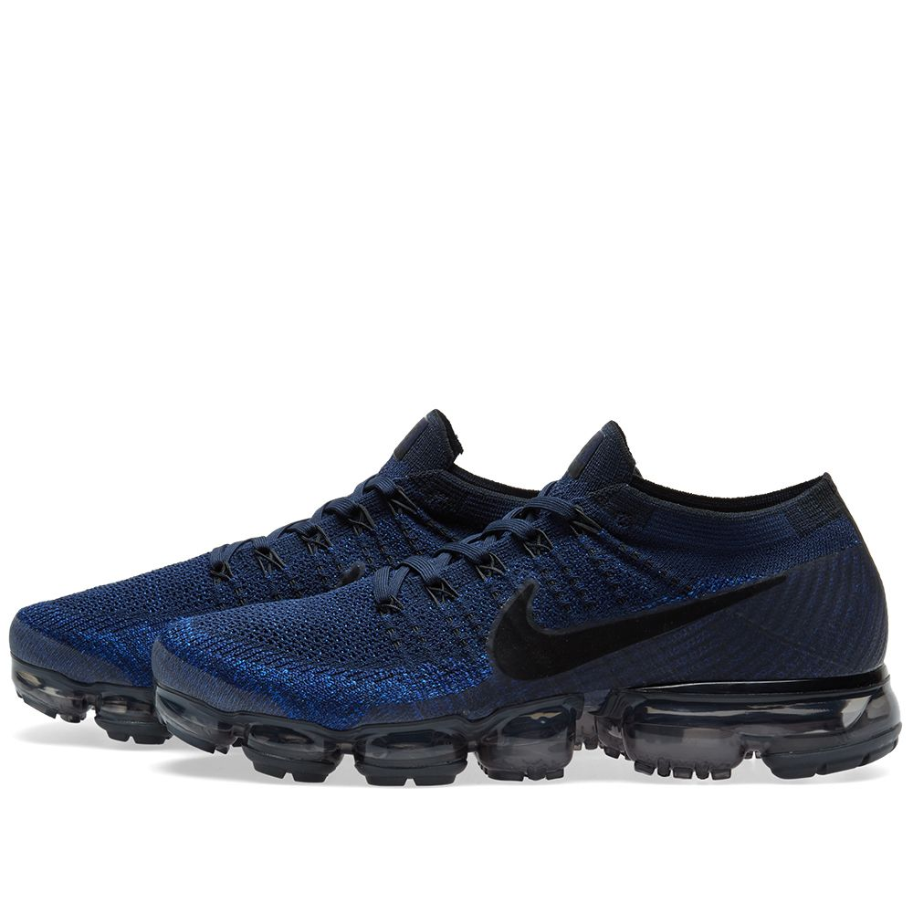 newest collection 06dc3 bb906 Nike Air Vapormax Flyknit Colligate Navy  Black  END.