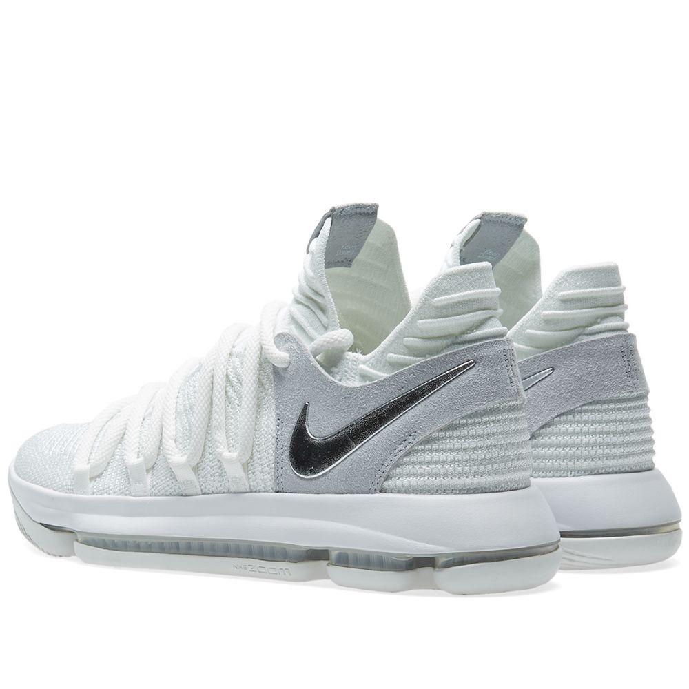 e1274ac9db47 Nike KD 10  Chrome  White