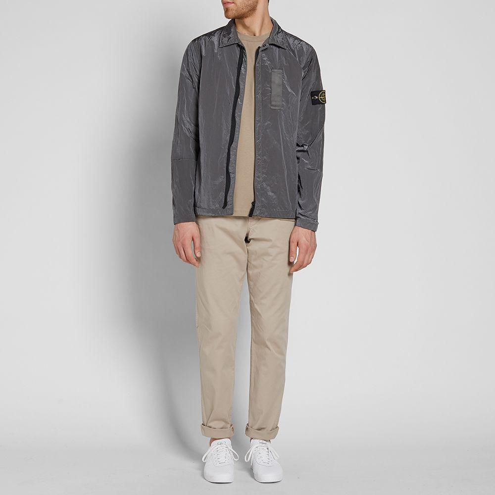 34eaae7b29 Stone Island Nylon Metal Shirt Jacket Grey