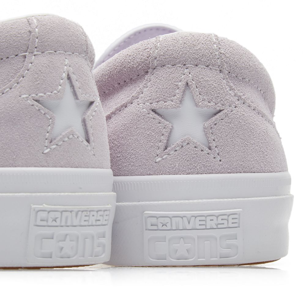 07acdf7e232a Converse One Star CC Slip On Barely Grape   White