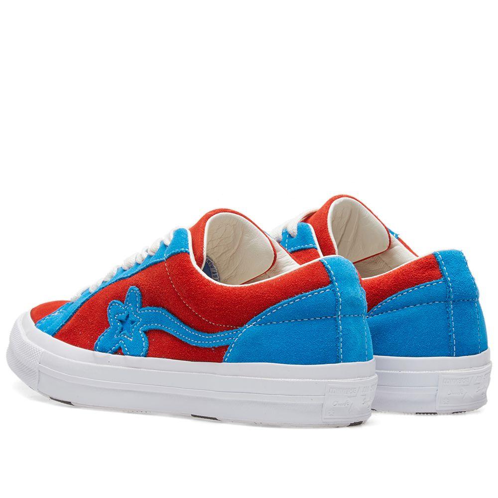 Converse x Golf Le Fleur Two Tones Lava   White Blue  33f7d4c29