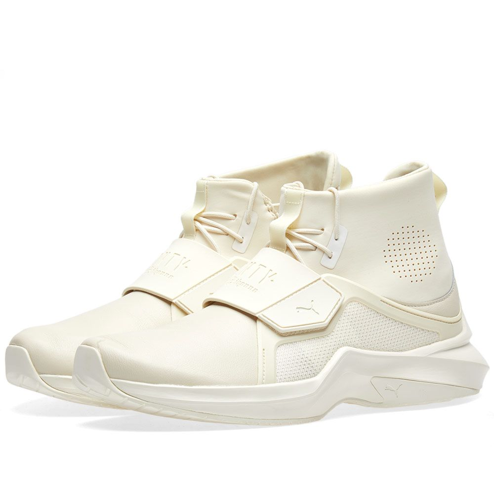 14743aa3991 Puma x Fenty by Rihanna Trainer Hi Whisper White