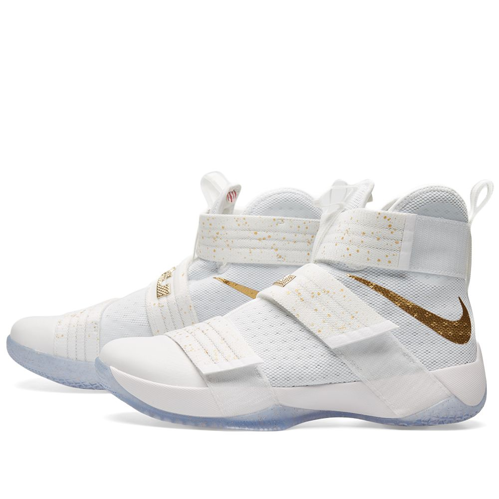 3c4e611db2a Nike Lebron Soldier 10 SFG Limited White   Metallic Gold
