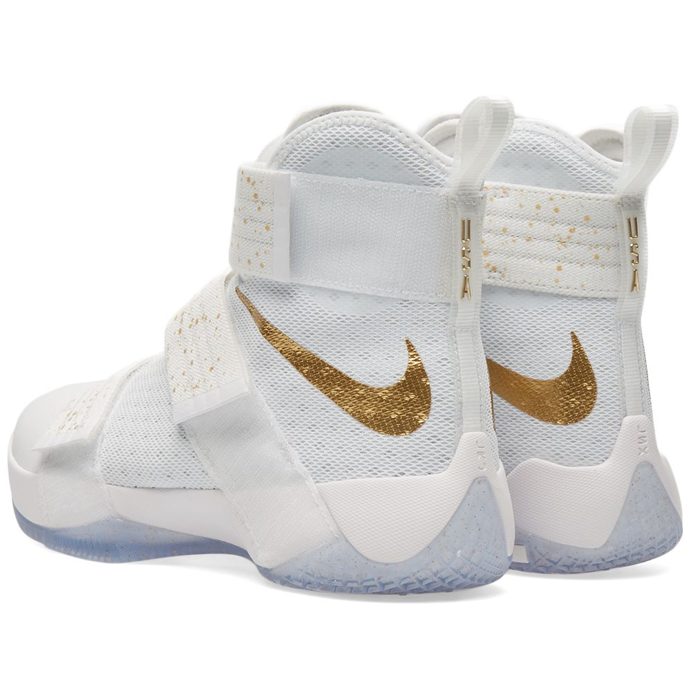 f4cfb7f4bdb5e Nike Lebron Soldier 10 SFG Limited White   Metallic Gold