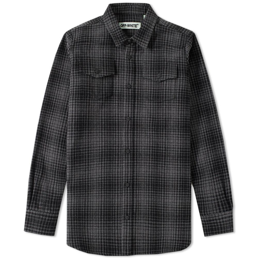 507a299be692 Off-White Tartan Shirt Grey   Black