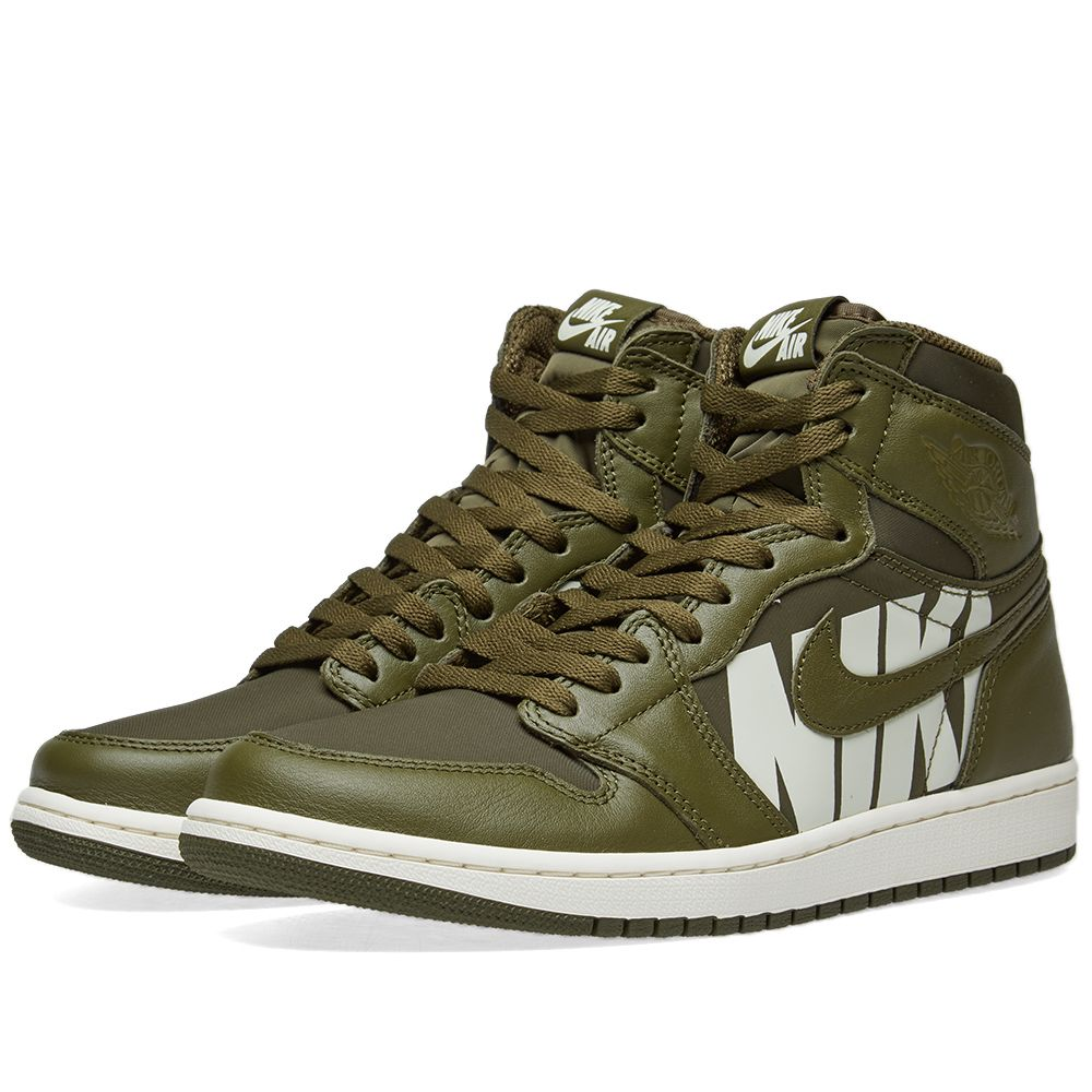 393ef4daa5754 Air Jordan 1 Retro High OG Olive Canvas