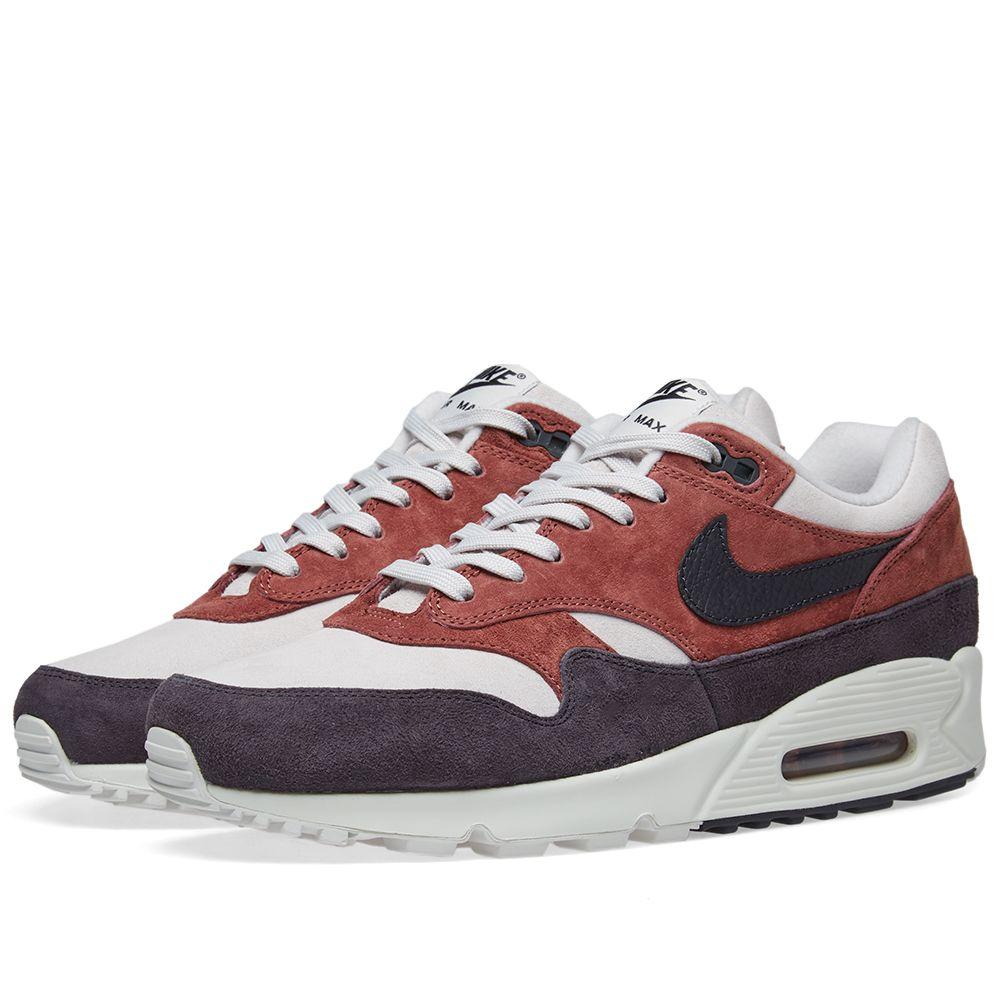 03b89e759eef3c Nike Air Max 90 1 W Red Sepia