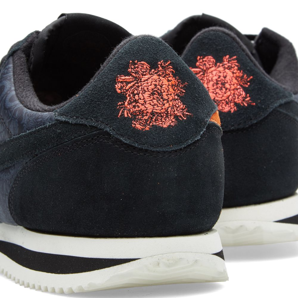 check out c0702 df001 Nike Cortez Basic Premium QS  Day of the Dead  Black   Sail   END.