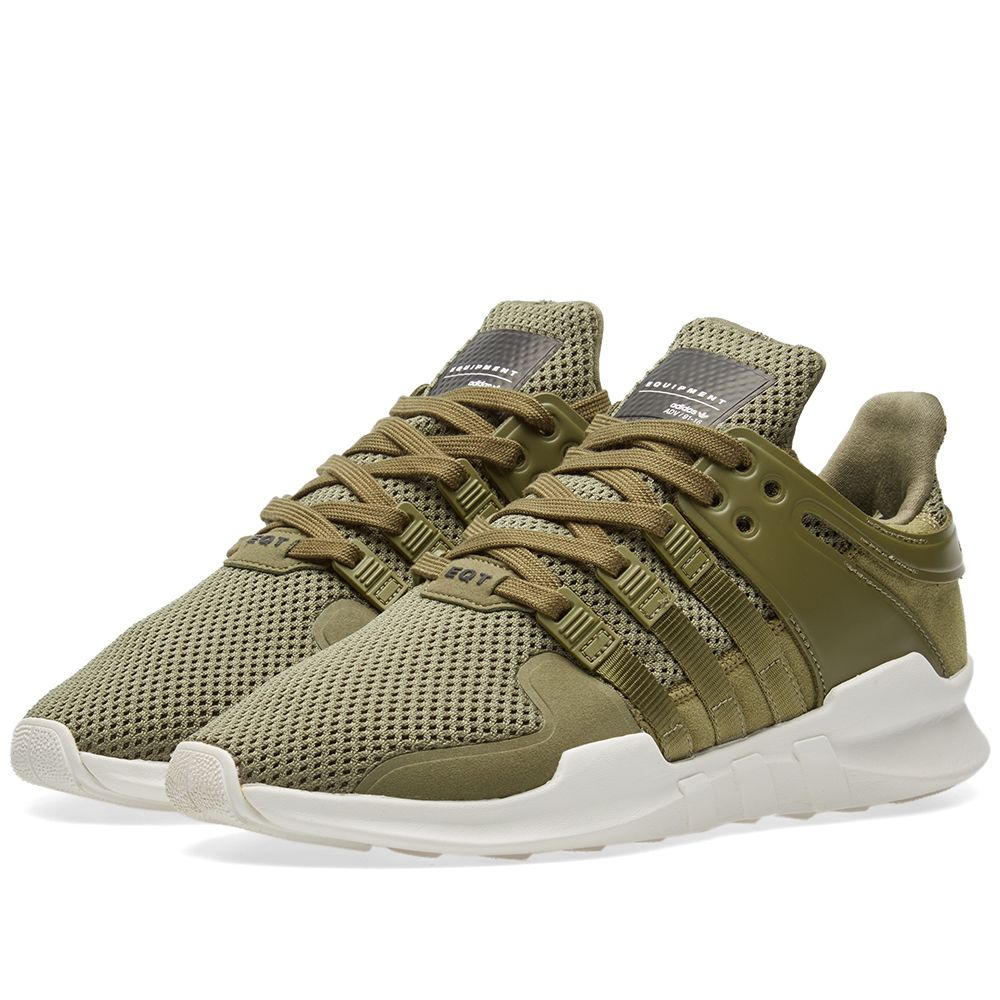 14039292dfff Adidas EQT Support ADV Olive Cargo   Red