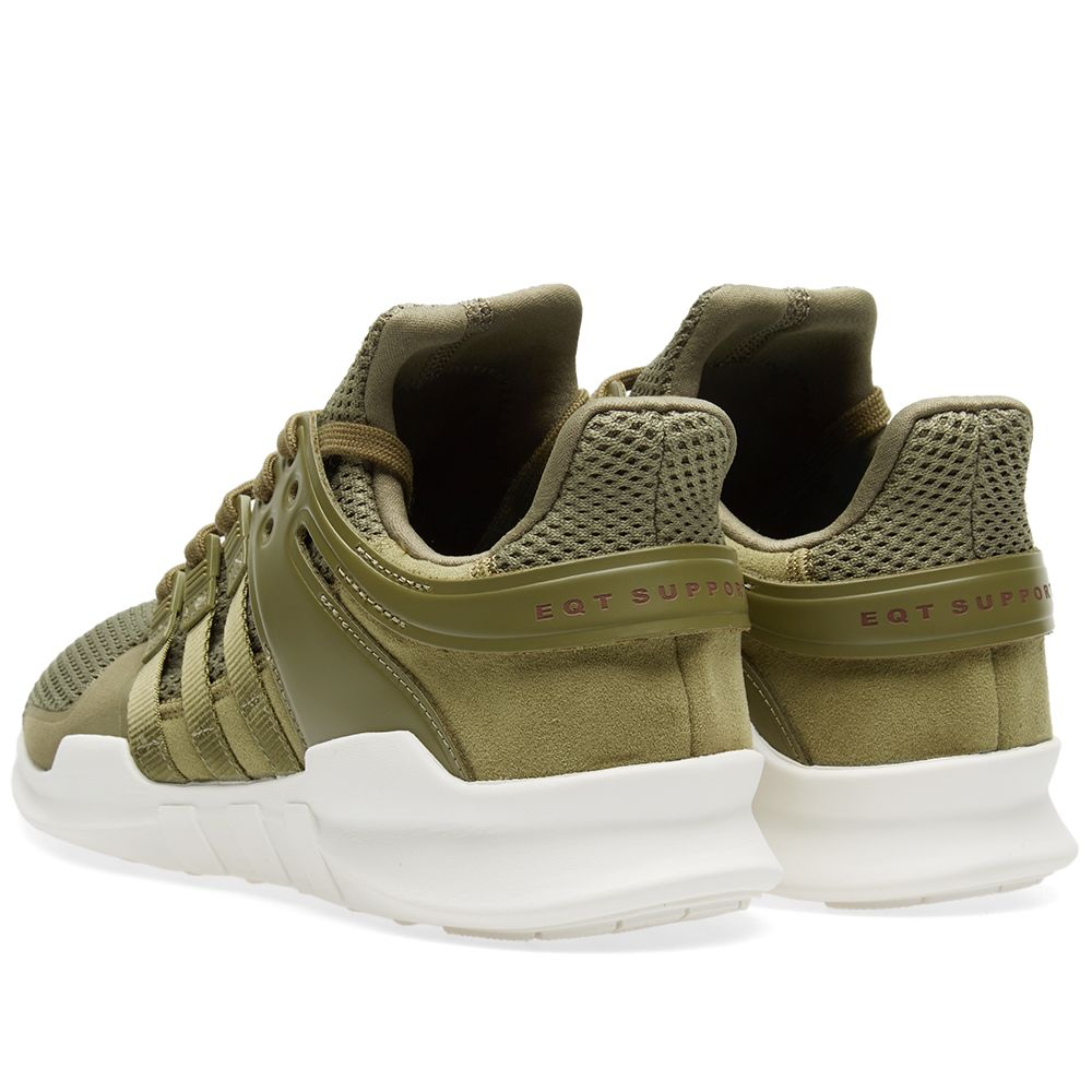 eb03671a25b2 Adidas EQT Support ADV Olive Cargo   Red